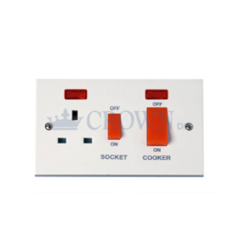 Ishico Cooker Socket Switched Neon DP 45 Amp