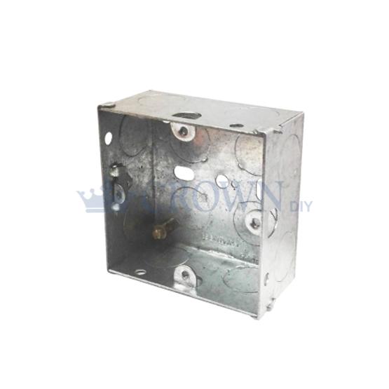 Ishico Single Socket 25mm Metal Back box
