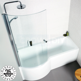 Kartell Adapt P Shaped Shower Bath