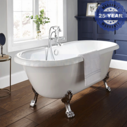 Kartell Astley Traditional Freestanding Bath 1500 x 800mm