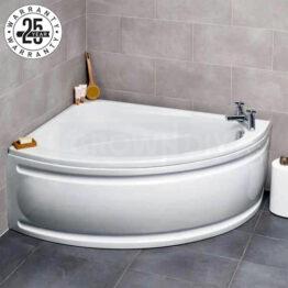 Kartell Formula Offset Corner Bath 1500 x 1040mm Left Hand