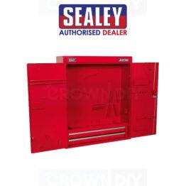 Sealey APW750 Wall Mounted Hanging Tool Storage Box Metal Lockable Cabinet Drawers